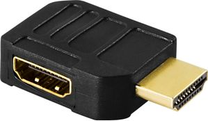 HDMI-adapter,  19-pin hane till hona, vinklad
