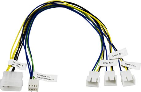 AKASA FAN CABLE 1XCPU/ 2XCHASSIEFAN 4-PIN (AK-CB002)