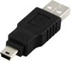 DELTACO USB-ADAPTER TYP A HA - TYP MINI B HA