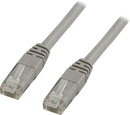 UTP Cat6 patchkabel 0,3m, grå
