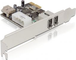PCI-Express x1, Firewire 400 kort, 3x6-pin, 2 ext / 1 int