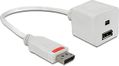 DELOCK DisplayPort u - DisplayPort n + Mini DisplayPort n, 0,2m, valk