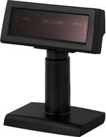 Kunddisplay,  2x20 tecken, USB, svart