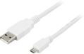 DELTACO USB 2.0 kabel Type A han - Type Micro B han, 5-pin, for opladn