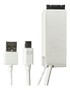 "GeChic kabel med mini DisplayPort og USB til ON-LAP 15,6"", 1m, hvid"