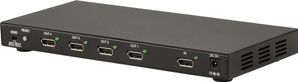 DisplayPort-splitter,  1-4 DP, 2560x1600,  12bit, PCM 7.1, svart