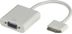 DELTACO DOCK-VGA - VGA-adapter - HD-15 (hun) - Apple Dock konnektor (han) - 20 cm - hvid - for Apple iPad (3rd...