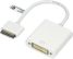 DELTACO ADAPTER DVI-D HUN - IPHONE/ IPAD,  0.2M WHITE