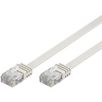 U/UTP Cat6 patchkabel, flat, 0, 5m,  vit