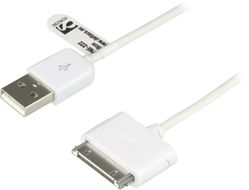 Deltaco USB-synkkabel till iPhone/ iPod,  0,5m, svart (IPNE-222)