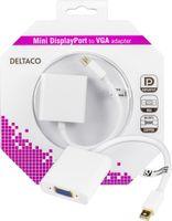 mini DisplayPort till VGA 20-p ha - 15-p ho 0,05m vit/grå