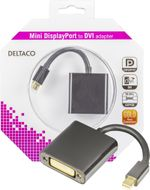 mini DisplayPort til DVI-I adapter, ha-hu, 0,1m, svart