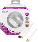 DELTACO mini DisplayPort - HDMI-monitorikaapeli,  0,2m, valk