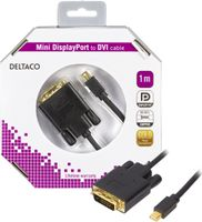 mini DisplayPort till DVI-D kabel, ha-ha, 1m, svart
