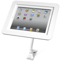 MACLOCKS Flex Arm stativ till iPad, flexibel arm, täckt hem-knapp,  vit (159W213EXENW)