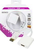 DisplayPort til HDMI adapter, 20-pin ha - hu, 0,2m, hvit