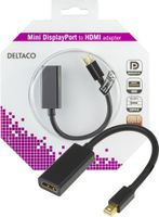 mini DisplayPort till HDMI adapter, 20-pin ha - ho, 0,2m, svar