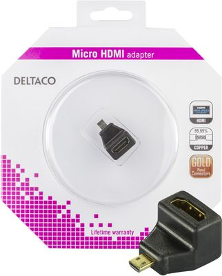 HDMI High Speed with Ethernet adapter, Micro HDMI ha - HDMI ho