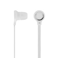 STREETZ in-ear headset för iPhone, svarsknapp,  vit