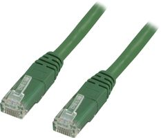 UTP Cat6 patchkabel 0,75m, grön