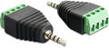 DELOCK adapter, 2,5mm stereo ha till 4-pin terminalblock,  svart