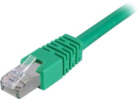 DELTACO FTP Cat6 patchkabel 0.3m, grön (STP-603G)
