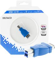 USB 3.0 adapter, Typ B ha - Typ A ho, blå