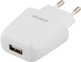 DELTACO AC Adapter 5V 2.4A white