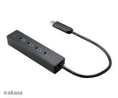 Connect 4SX, 4-ports hubb, USB 3.0, svart