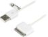 DELTACO USB-synk-/ laddarkabel till iPhone, iPod och iPad, 0,5m, vit