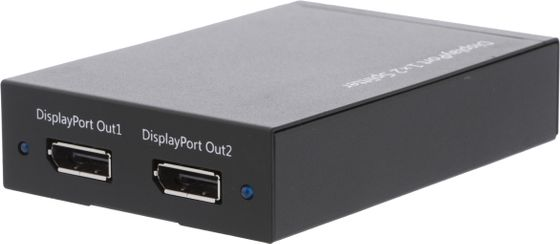 DisplayPort-splitter,  1x20-pin ho till 2x20-pin ho, 2560x1600,  svart