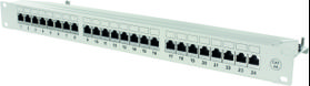 "STP Patchpanel 24xRJ45, Cat6a, 1U, 19"", metall, grå"