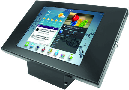 MACLOCKS Galaxy Tab3 Enclosure Kiosk, bordsstativ för Galaxy Tab 3, sv (101B300GEB)