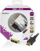 DELTACO HDMI ha - DVI-D Single Link ha, 0,5m, blister