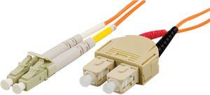 Fiberkablage LC - SC, duplex, multimode,  62,5/125, 1,5m