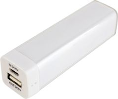 Powerbank,  2200mAh, USB 5V 1A, vit