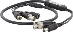 Mikrofon för övervakningskameror,  0,6m, svart