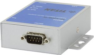 Network Seriel Adapter, RJ45 till seriell adapter, RS-232, DB9ha, grå