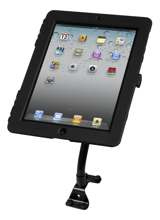 MACLOCKS Flex Arm stativ till iPad, flexibel arm, täckt hem-knapp, sva (159B213EXENB)