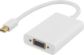mini DisplayPort till VGA-adapter med ljud, 0,25m, vit
