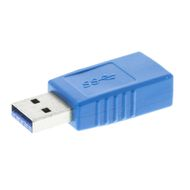 USB 3.0 adapter, Typ A ha - Typ A ho, blå
