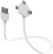 ALLOCACOC Multi USB-kabel,  USB- A/ Lightning / Micro/ Mini-B,  0,8m, hvid