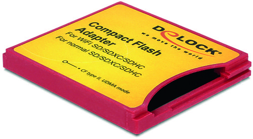 DELOCK Compact Flash Adapter til ISDIO(WiFi SD) SDHC,SDXC memorykort (62542)