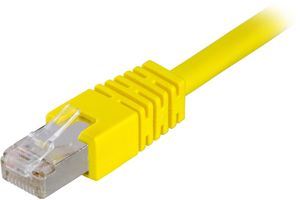 F/UTP Cat6 patchkabel,  0,7m, gul