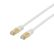 DELTACO S/FTP Cat7 patchkabel,  LSZH (halogenfri), 10m,  hvid