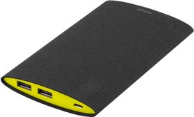 Power bank, slim, 6000mAh, 2xUSB, 5V 2,1A, svart