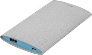 Power bank, slim, 6000mAh, USB 5V 2,1A, grå