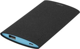 Power bank, slim, 6000mAh, USB 5V 2,1A, svart