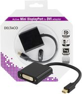 DELTACO mini DisplayPort till DVI-D Single Link adapter, 4K, 0,2m, sv (DP-DVI18-K)