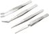 SPROTEK Tweezers Stainless Steel 4-Pack